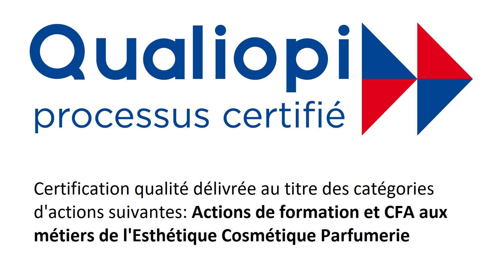 Ecole esthétique THALGO certifiée Qualiopi